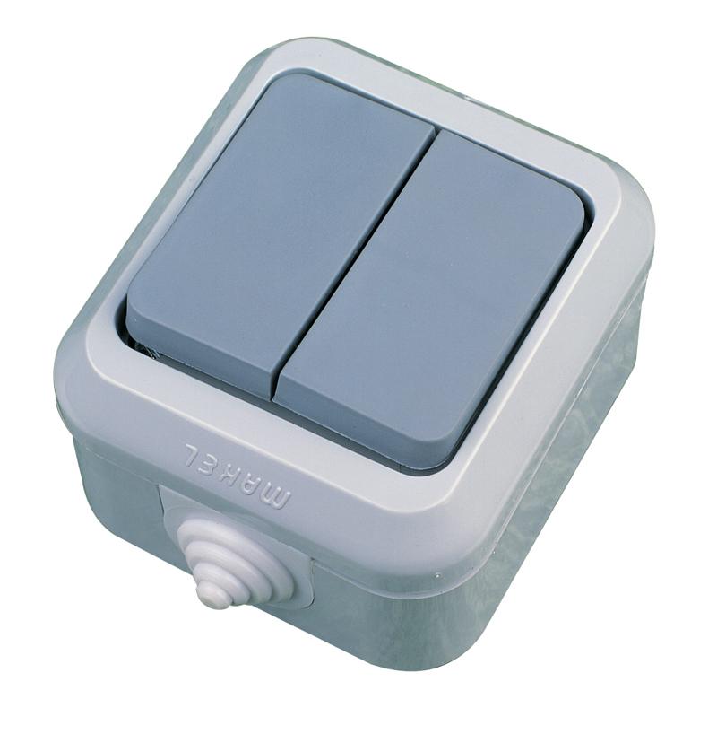 Влагозащитени IP 44 сив